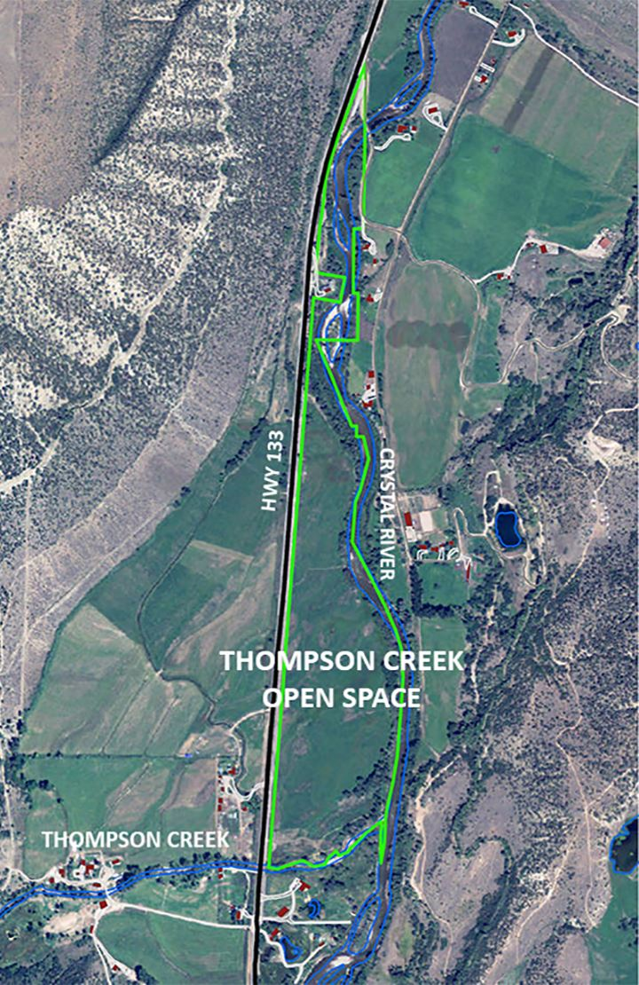 Thompson Creek Open Space map