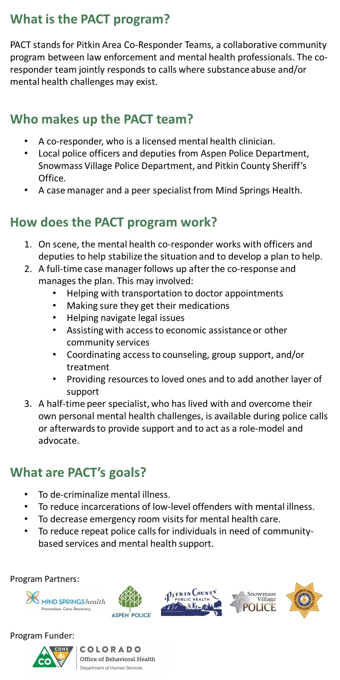 PACT Kick Off Website Text and Logos