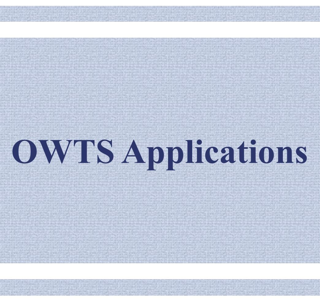 OWTS Applications Button